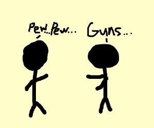 Man talking about guns