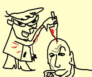 Dexter's next victim is Doctor Evil.