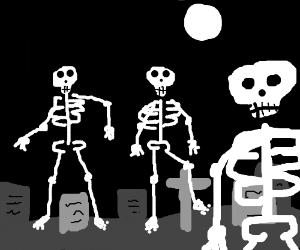 Spooky scary skeletons!