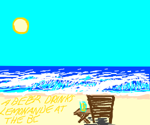 What does beer drink while lying on the beach?