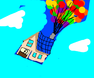 """The house from """"Up""""."""