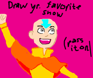Draw your favorite TV show (Pass it on.)