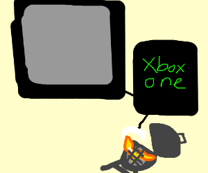 A small BBQ grill plays xBox One.