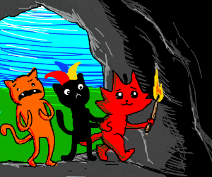 Bunch of drawception vets go into a scary cave