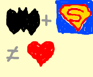 Batman and Superman are not a suitable couple