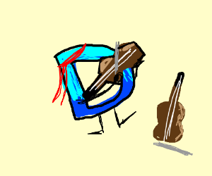 Drawception becomes a hippie and plays violins