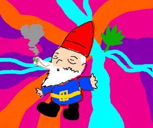 Gnome smoking pot