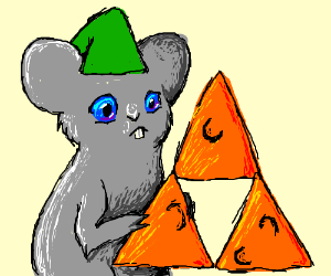 Mouse-Link finds a piece of the Cheesetriforce