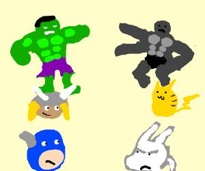 Avengers Vs. Pokemon FIGHT!!!!