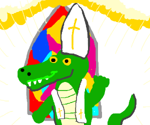 Pope Alligator the First.