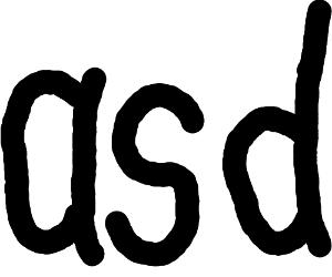 Non-artistic calligraphy