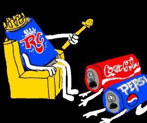 RCCola rules the Kingdom;Coke and Pepsi grovel
