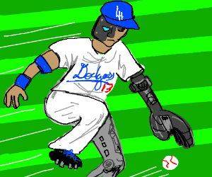 The Dodgers have a cyborg at Shortstop