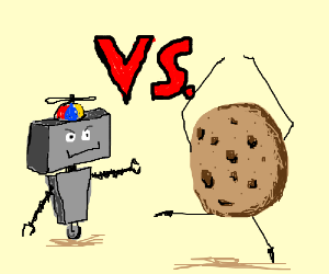 Robot kid VS dancing cookie