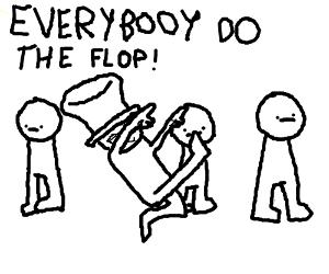 Men with no arms ignore obnoxious dancer
