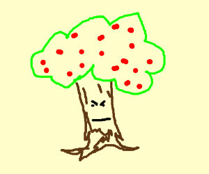 An angry Apple Tree