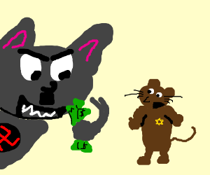 nazi cat steals jew mouse's money