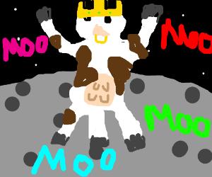 Three legged cows take over the moon