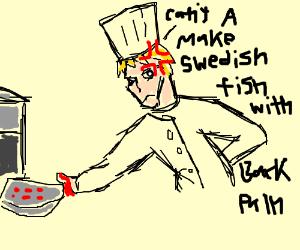 Swedish chef has back pain
