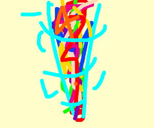 A tornado of color