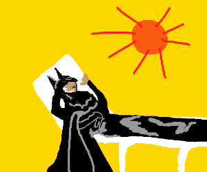 Batman takes a long overdue vacation.