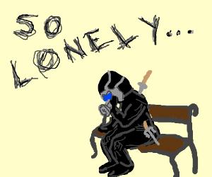 Sad Ninja with Gas Mask Lonely