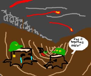 tree stump war