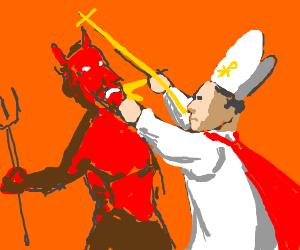 Mr. Superpope versus the Devil