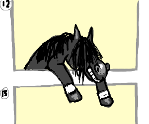Horse escapes from Panel 12!
