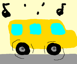 The wheels on the bus go 'round and 'round!
