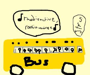 Bus driving while kids sing.