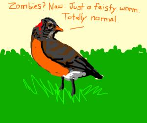 Robin pretends he wasn't bitten by Zombies.