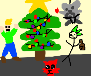 Drawception Vets gets ready for Christmas