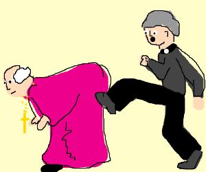 Kicking Bishop Brennan