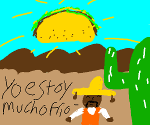 Mexican chills at a cactus under a taco sun