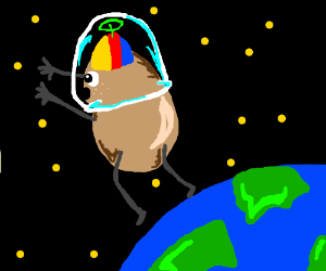 Potato leaves Earth for the wonders of space