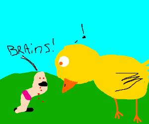 Zombie Worm wants bird's brains