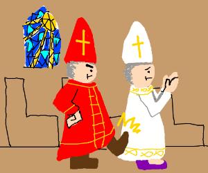 kicking the pope