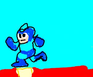 Megaman on his duty