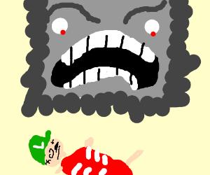 Thwomp killed Luigi :(