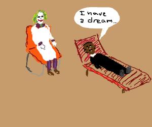 Jokers day job as a psychiatrist