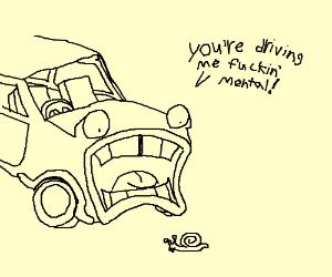 "Car: ""This guy drives me insane"""