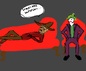 The Joker is a therapist to a scarecrow