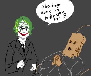 psychiatrist joker's patient is the scarecrow