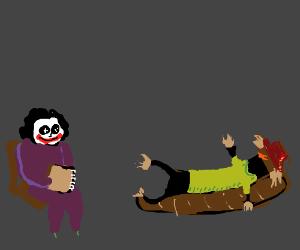 joker is scarecrows psychiatrist