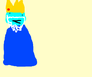 ice king yelling at a mountain