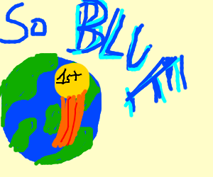 The Earth wins 1st place for being the bluest.