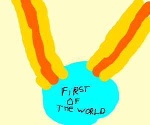 First world medal so blue