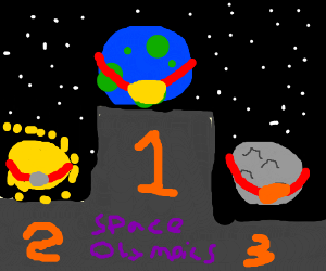 Earth wins gold at space olympics