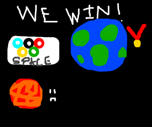 Earth is #1 in Space Olympics